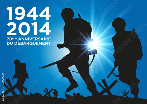 Poster  DEBARQUEMENT 1944-2014