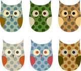 Cute Vector Collection of Owls - 62185035