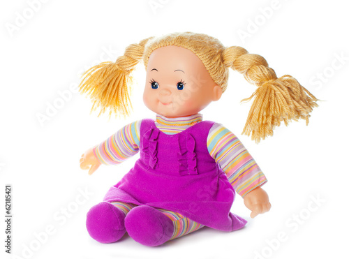 Fotografie, Obraz  doll in dress isolated on white