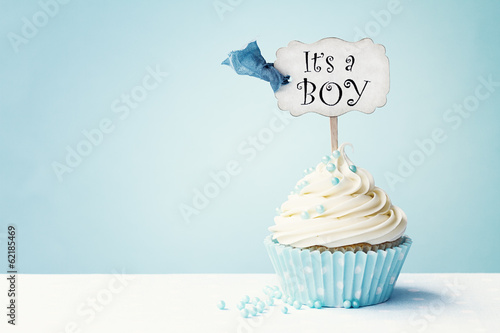 Baby shower cupcake Canvas Print