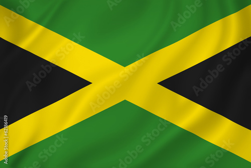Jamaica flag Wallpaper Mural