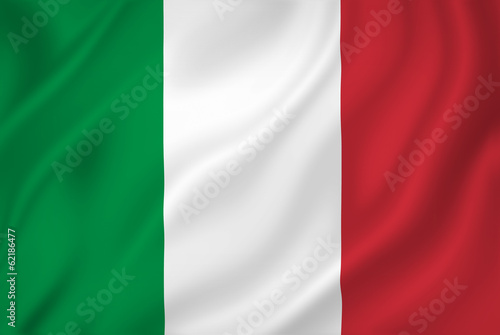 Italy flag Fotobehang