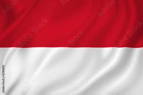 Fotomural  Indonesia flag