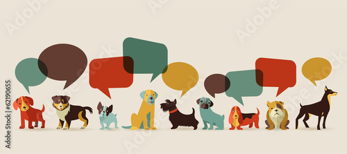 Dogs speaking - icons and i...