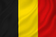 canvas print picture - Belgium flag