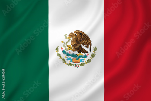 Fotomural  Mexico flag