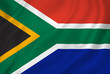 canvas print picture - South African flag