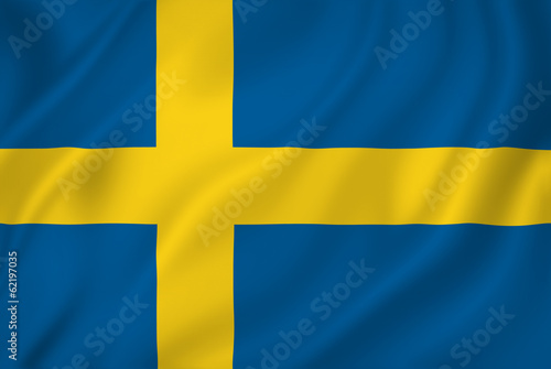 Fotografía  Swedish flag