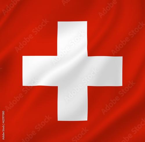 Swiss flag Wall mural