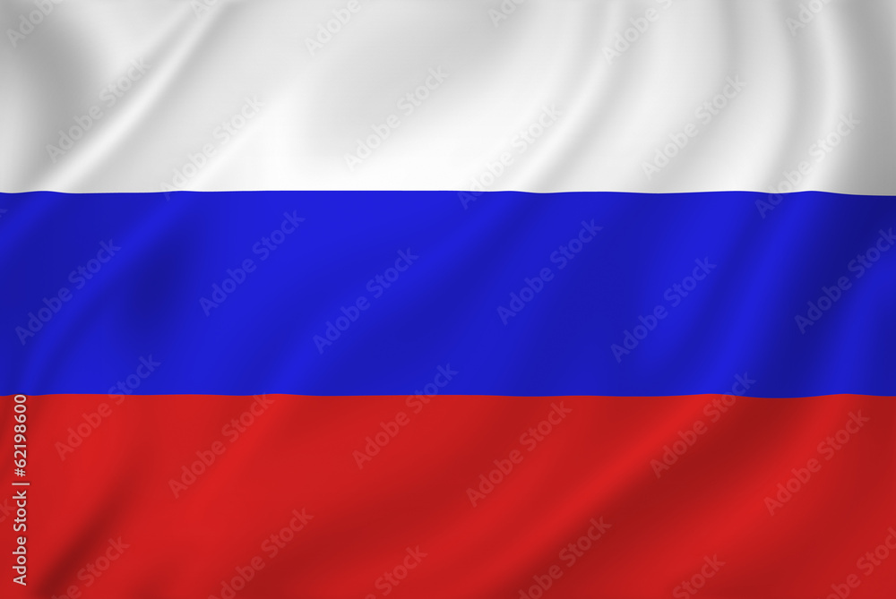 Fototapety, obrazy: Russia flag