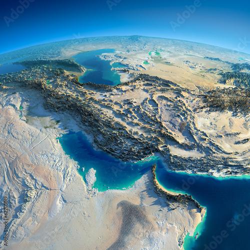 Fényképezés  Detailed Earth. Persian Gulf