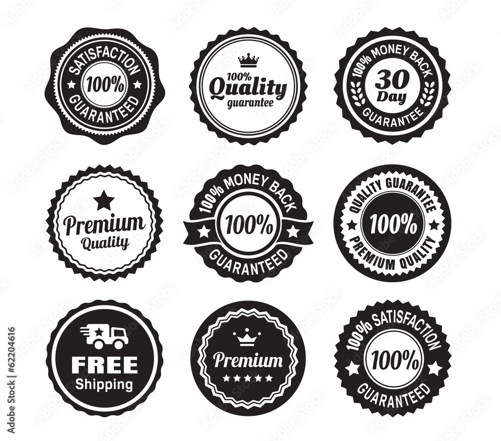 Fototapety, obrazy: Vintage Quality Guarantee Badges