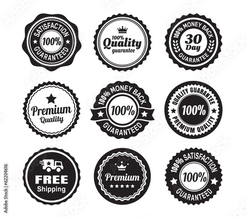 Fotografie, Obraz  Vintage Quality Guarantee Badges