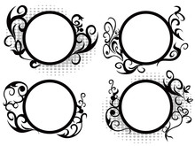 Circle Floral Frame Decoration