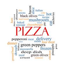 Pizza Word Cloud Concept
