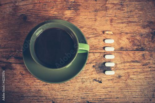 Stampa su Tela Coffee and pills