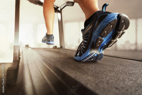 Fotobehang Fitness Running on treadmill