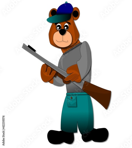 Aluminium Prints Wild West Bear hunting