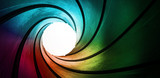 Fototapeta Perspektywa 3d - 3d colored abstract background focus concept