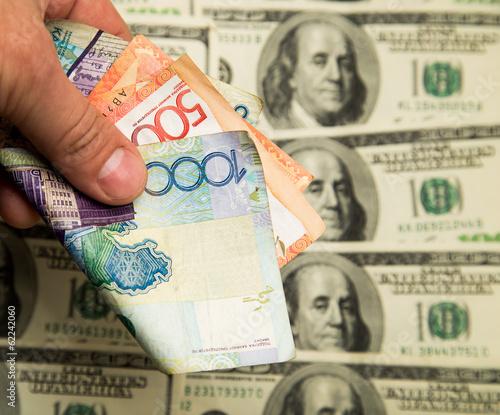 Kazakh Tenge And U S Dollars