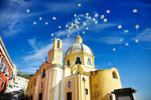 Beautiful Panoramic View  Church Of Procida