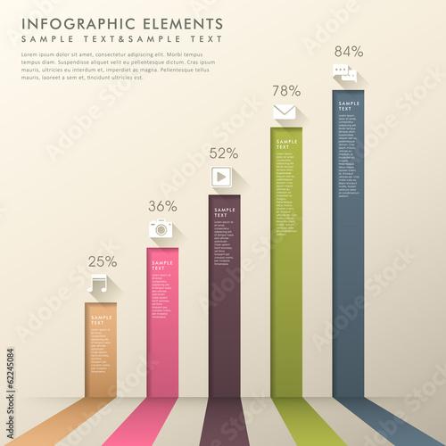 Fotografía  abstract 3d bar chart infographics