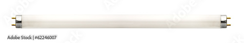 Photo Fluorescent lamp isolated on white