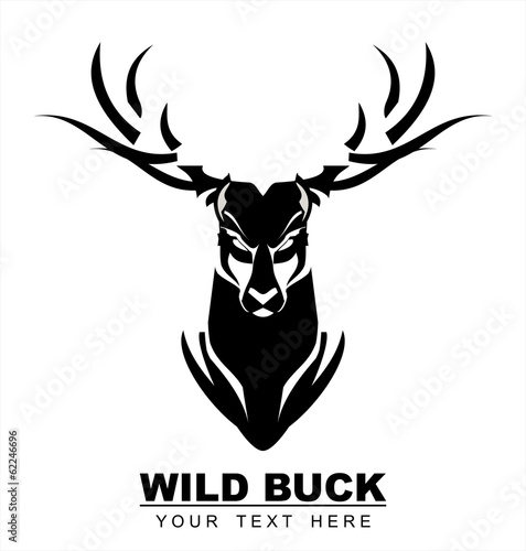 Black Bold Buck Wall mural