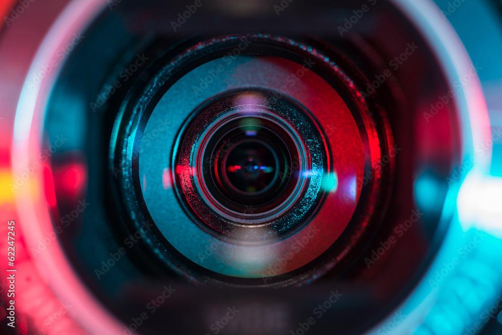 Fototapety, obrazy: Video camera lens