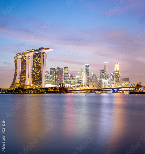 Foto op Canvas Singapore Singapore city downtown