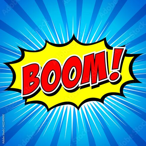 Fotografie, Obraz  Boom! - Comic Speech Bubble, Cartoon