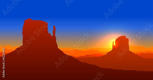 Fotomural Grand canyon sunset