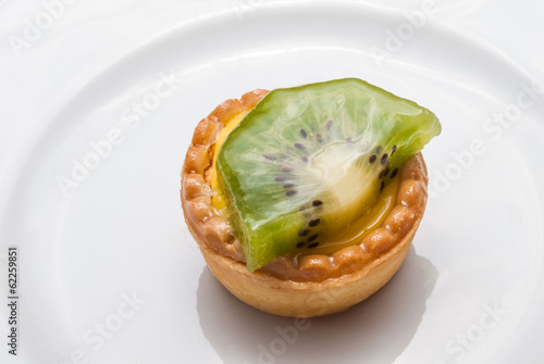 Fotografie, Obraz  Pasticcino di kiwi, dessert dolce, cucina italiana