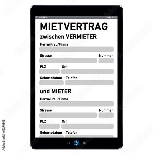 Touchscreen Pc Mit Mietvertrag G576 Buy This Stock Illustration