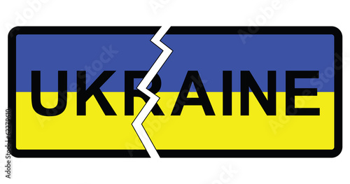 Photo  Representation of possible partition of Ukraine