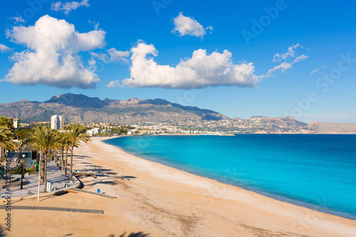 Photo Altea Playa del Albir of white stones in Alicante Spain