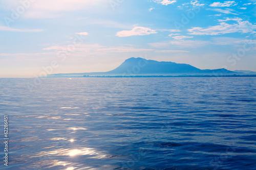 Foto  Denia San Antonio Cape and Montgo view from sea