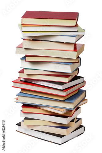 Stampa su Tela Isolated books stack