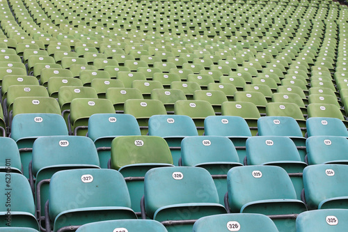 Fotobehang Stadion seats in stadium