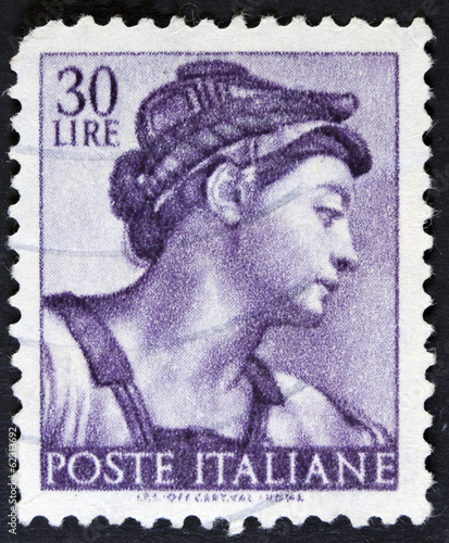 stamp printed in Italy from the Michelangelo Canvas Print