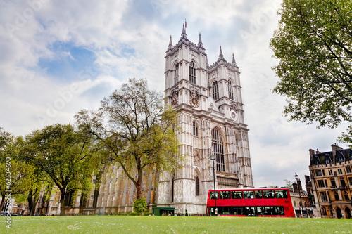 Fotografie, Obraz  Westminsterské opatství. Londýn, Anglie, Velká Británie