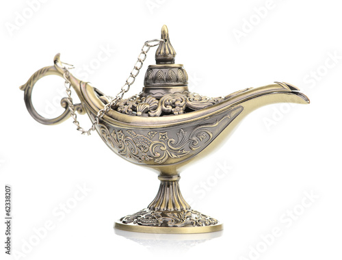 Fotografie, Obraz  Aladdin magic lamp isolated on white