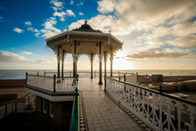 Sunset View On Beautiful Brighton Bandstand