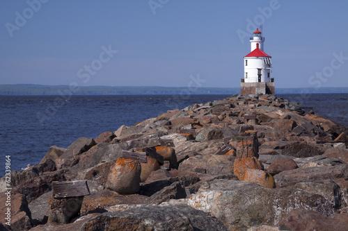 Foto op Aluminium Vuurtoren Wisconsin Point Lighthouse
