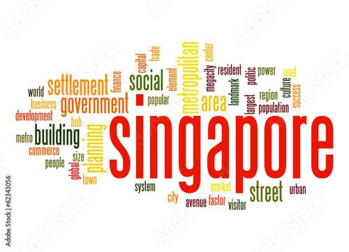 Photo  Singapore word cloud