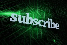 Subscribe Against Green And Bl...