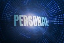 Personal Against Futuristic Dotted Blue And Black Background