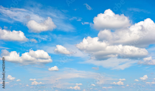perfect blue sky with white clouds