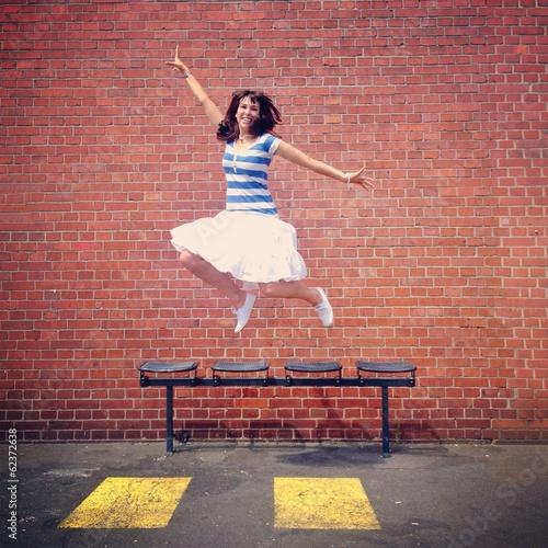 Obraz na plátně  woman jumping