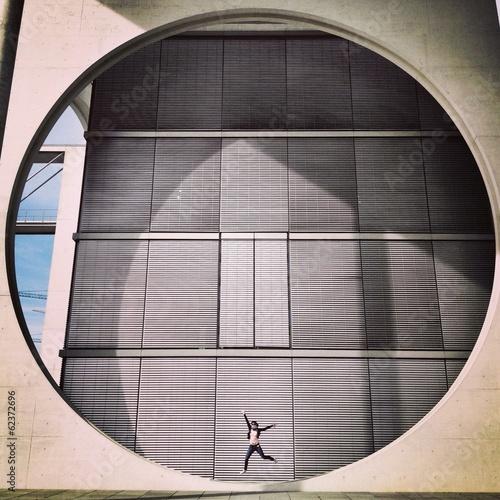 Fotografie, Obraz  woman jumping